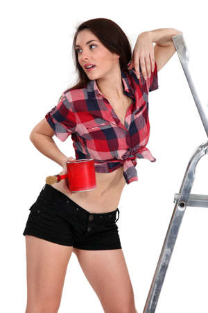 A sexy painter. Stock Photo - 15449275