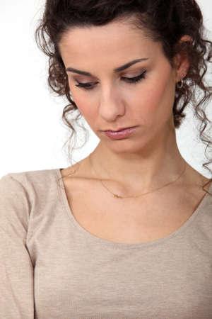cheerless: Portrait of a sad woman