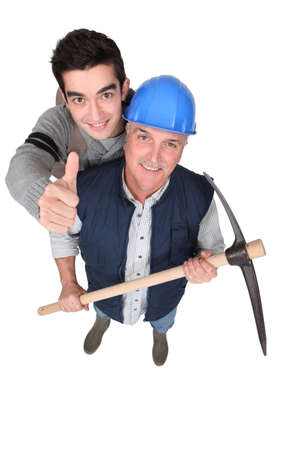 Tradesmen giving the thumb's up Stock Photo - 15449338