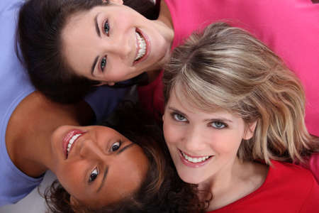 Multiracial friends photo