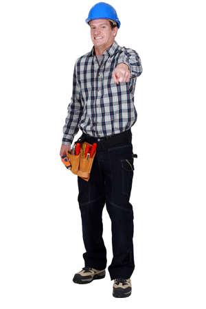 Handyman pointing photo