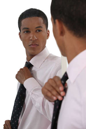 assured: Smart Afro-American businessman Stock Photo