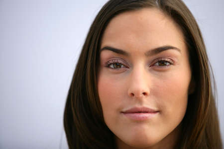 reassure: Closeup of an attractive woman