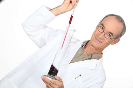 exact science: Medical scientific making a test Stock Photo