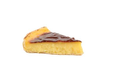 custard slice: Slice of custard tart Stock Photo