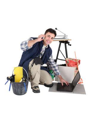 tiler: Tiler booking in his next job