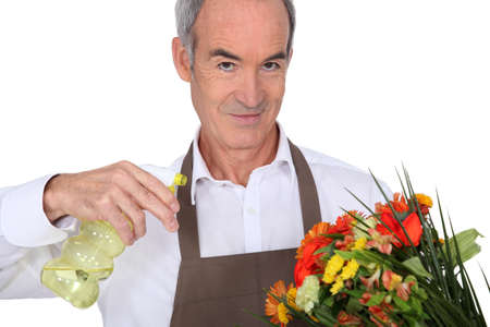 median age: Florist with vaporizer