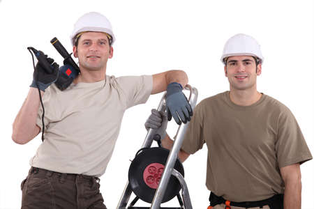 tradespeople: Portrait of a team of tradespeople Stock Photo