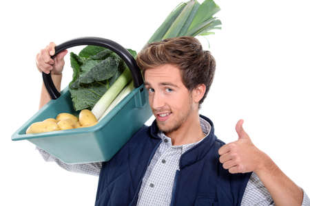 vegetable seller Stock Photo - 15574071