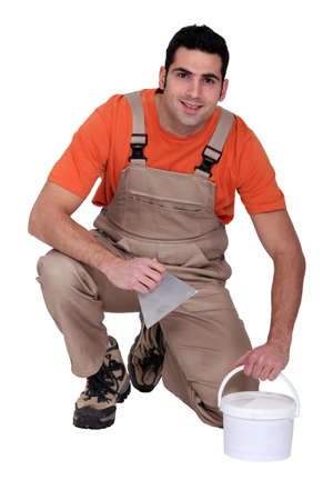Portrait of a tile fitter Stock Photo - 15573625