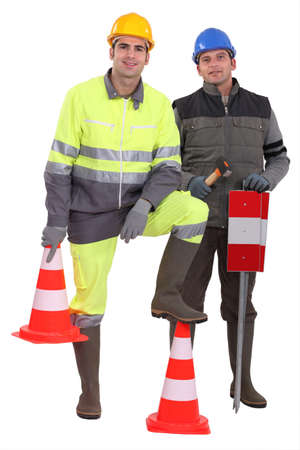 unskilled worker: A team of traffic guards