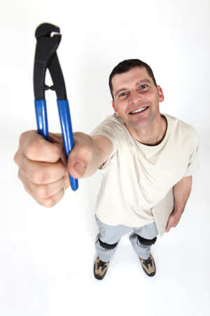 Man showing pliers photo