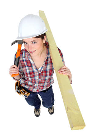 Female carpenter Stock Photo - 15573611