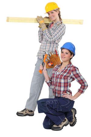 servicewoman: Female builders