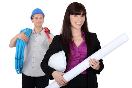 Architect and plumber Stock Photo - 15573553