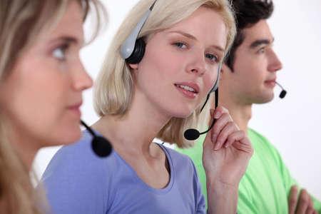 Call center staff photo