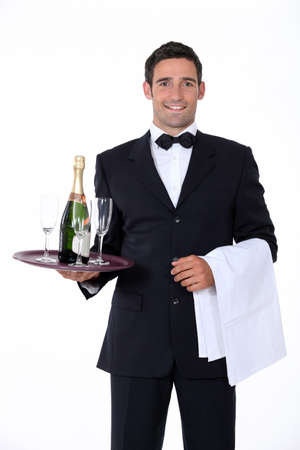 Bac serveur Smart Holding de verres � champagne photo