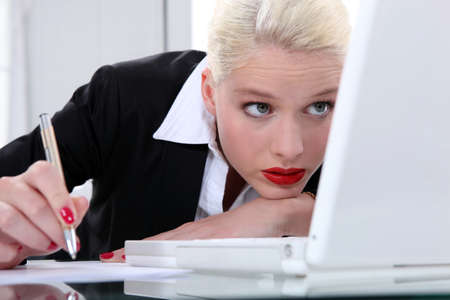 A really beautiful blond businesswoman. Stock Photo - 15574036