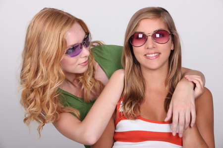voguish: two young blonde women