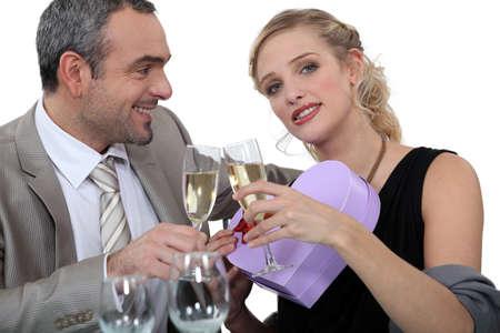 impassive: Couple celebrating Valentines Day