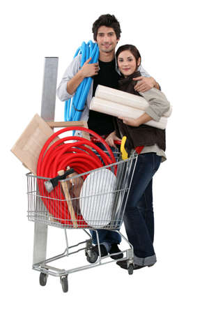Couple shopping in DIY store Stock Photo - 15573996