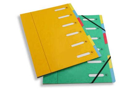 rolodex: Document folders Stock Photo