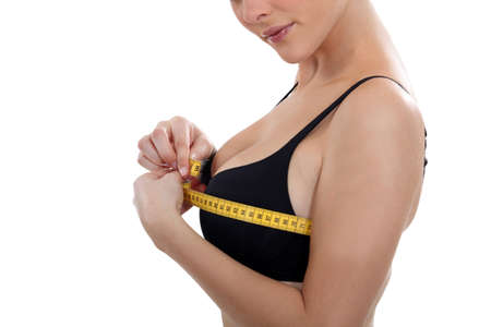 Women's chest size measured Stock Photo - 15573388