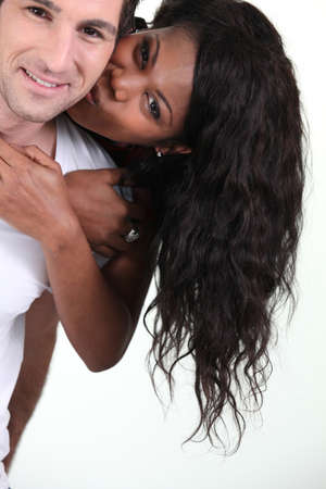 interracial relationships: a tender couple