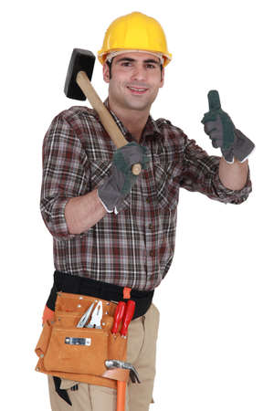 happy carpenter photo