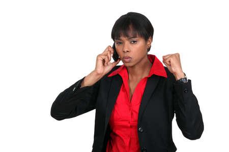 Una empresaria enojada photo