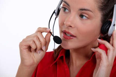 Female call-center worker photo