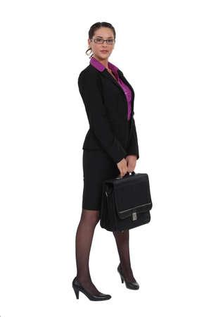 fresh graduate: Businesswoman with briefcase