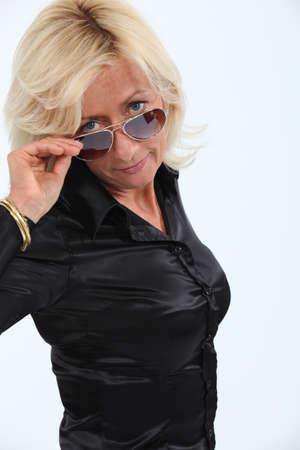 donne mature sexy: Trendy signora matura Archivio Fotografico