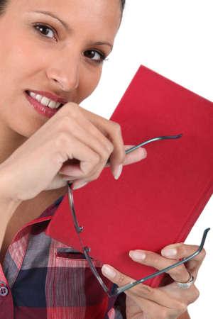 a woman reading a book Stock Photo - 15579561