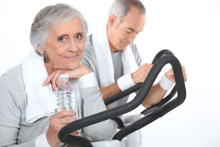 spread around: Older people in the gym