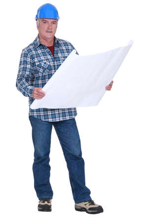 unfold: mature carpenter consulting blueprints