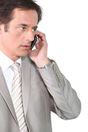 50 55: Businessman on the phone Stock Photo