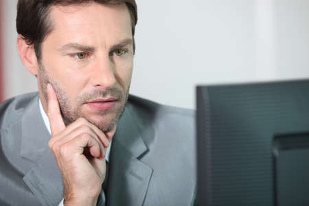 actuary: Accountant working Stock Photo