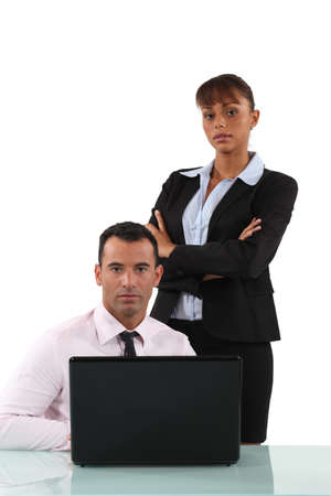 influential: Serious business couple Stock Photo