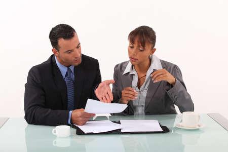 Business couple having heated discussion Zdjęcie Seryjne