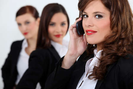 arouse: Three attractive business women