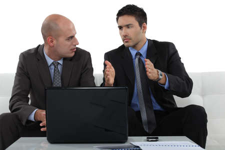 Concerned business associates Stock Photo - 15672624