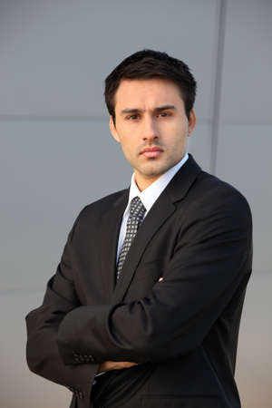 Confident young businessman photo