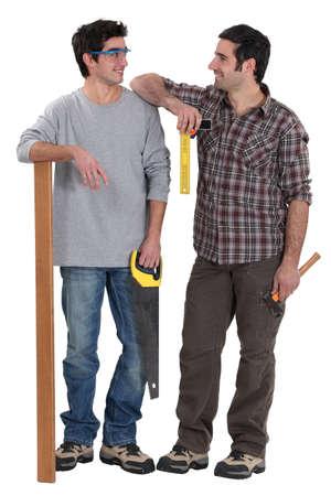 Carpenter and his apprentice