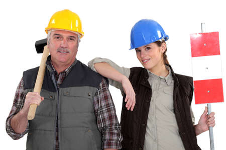 A manual worker and his trainee Stock Photo - 15675829