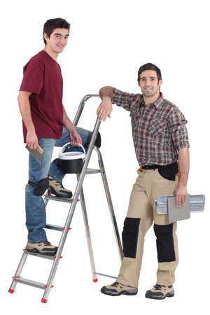 Two male decorators Stock Photo - 15686392