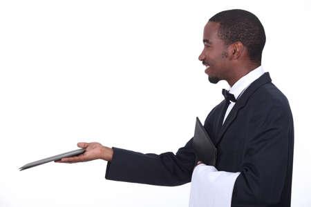 carte: Profile of a waiter