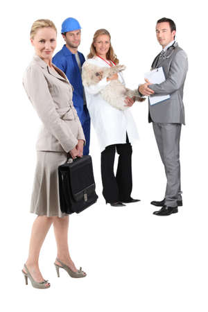 different jobs: Different jobs Stock Photo