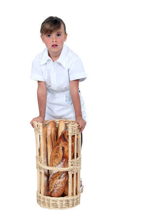 A kid dressed as a baker  Stock Photo - 15671712