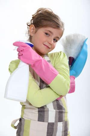 workhouse: Little girl doing workhouse Stock Photo